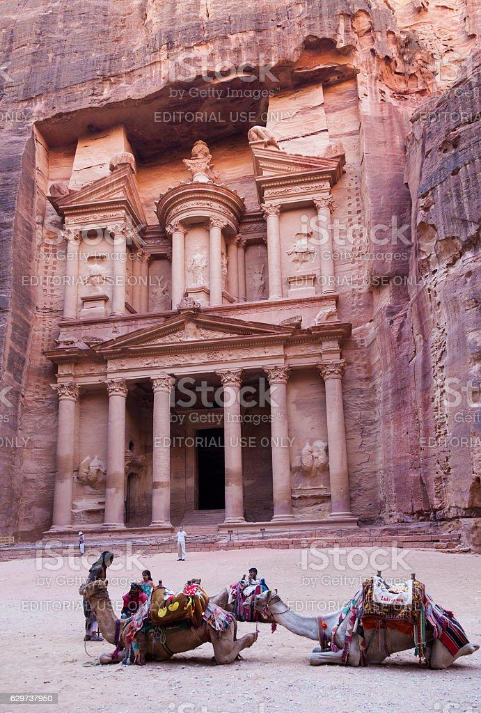 The Treasury. Petra. Jordan stock photo