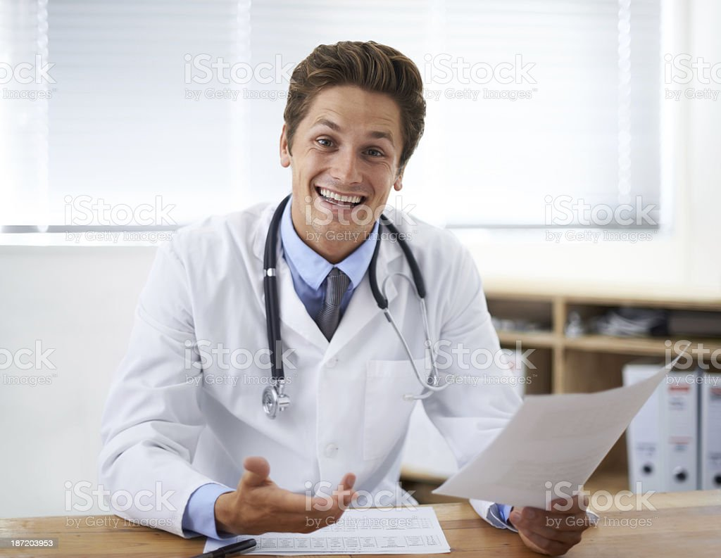 The treatment was a great success! royalty-free stock photo