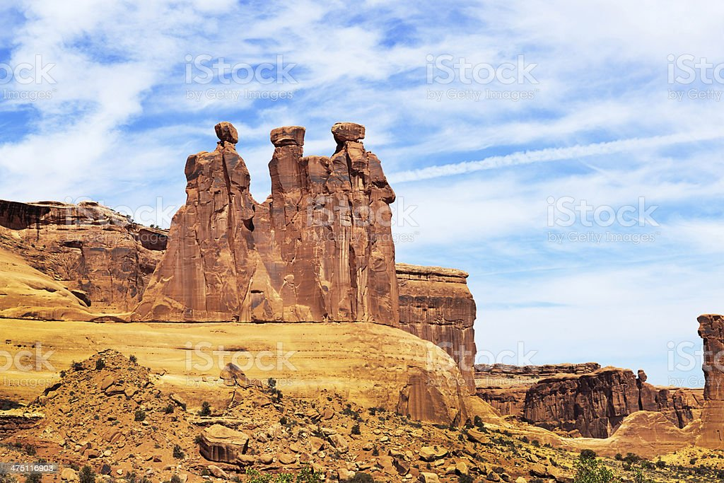 The Tree Gossips at the Arches National Park Utah USA royalty-free stock photo