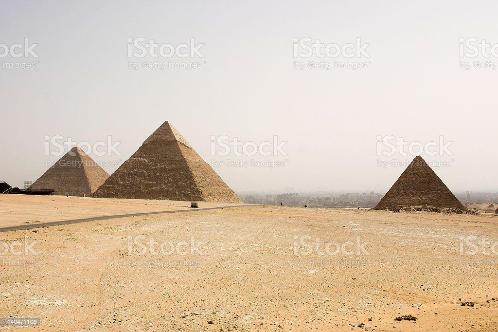 the tree pyramids stock photo