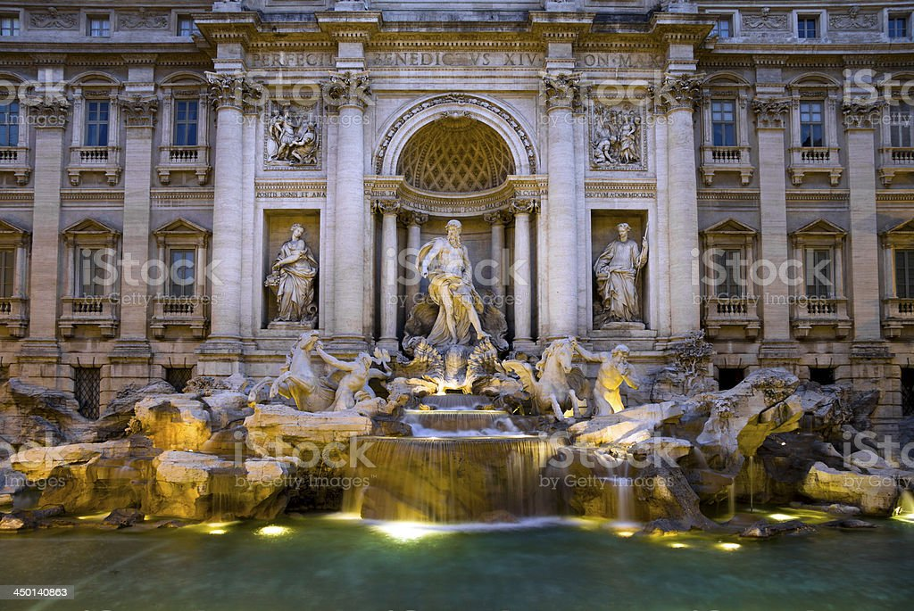 The 'Trevi Fountain' in Rome, Italy royalty-free stock photo