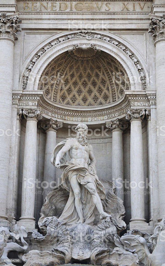 The Trevi Fountain royalty-free stock photo
