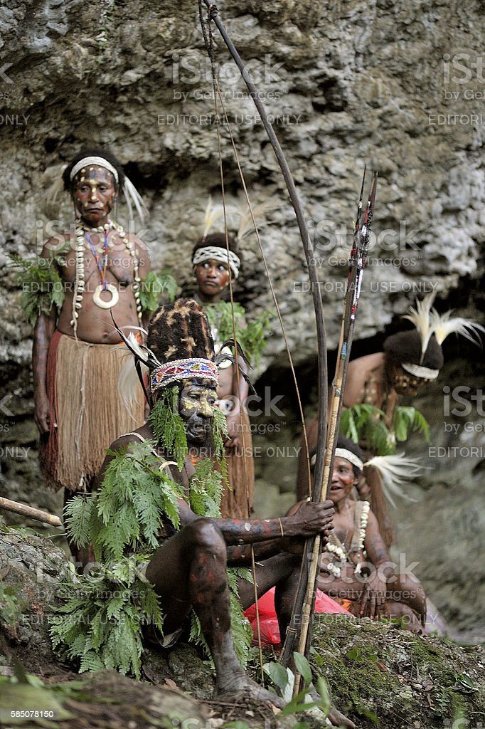 The tribe of Yafi stock photo