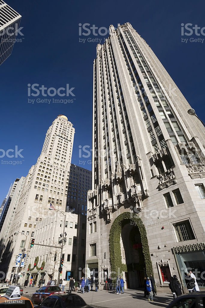 The Tribune Tower, Michigan Avenue, Chicago royalty-free stock photo
