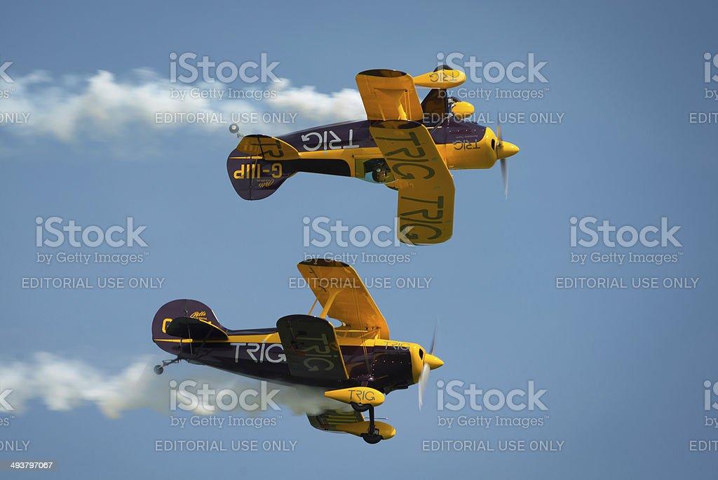The Trig aerobatic team stock photo