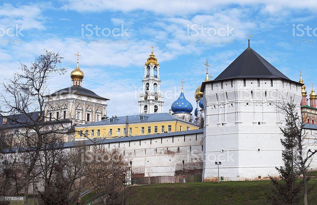 The Trinity monastery in Sergiev Posad, Russia royalty-free stock photo