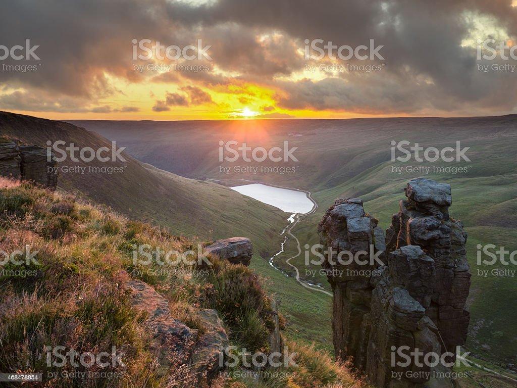 The Trinnacle, Saddleworth Moor stock photo