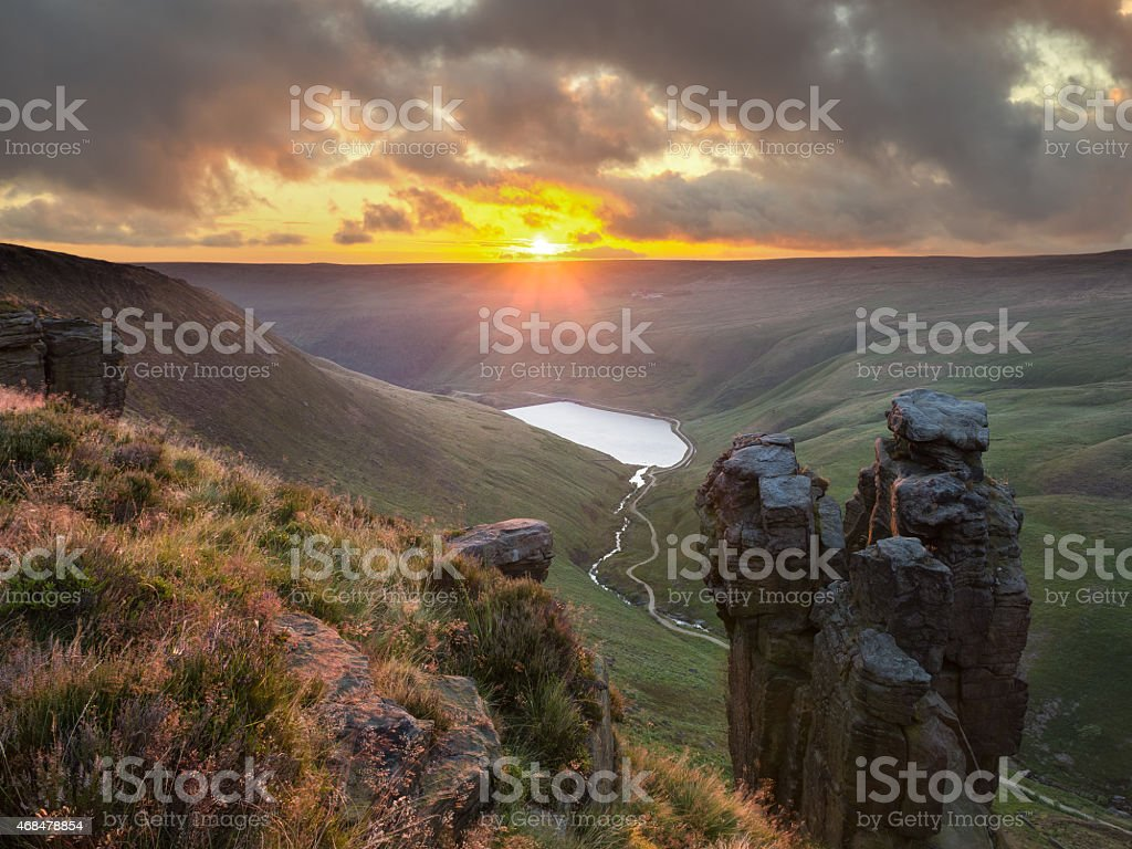 The Trinnacle, Saddleworth Moor stock photo