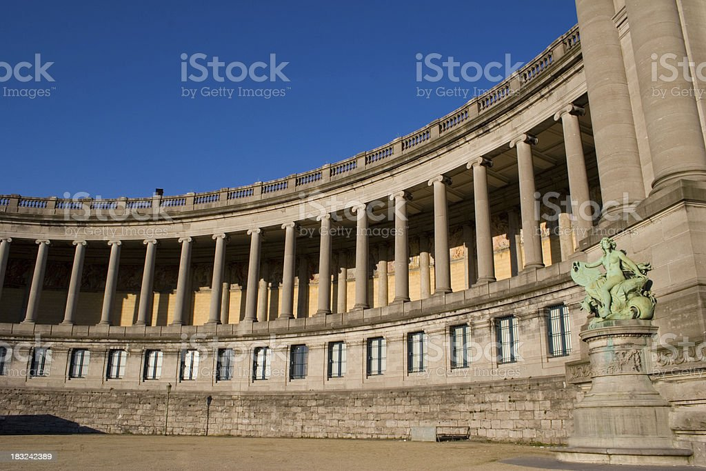The Triumphal Arch in Brussels stock photo