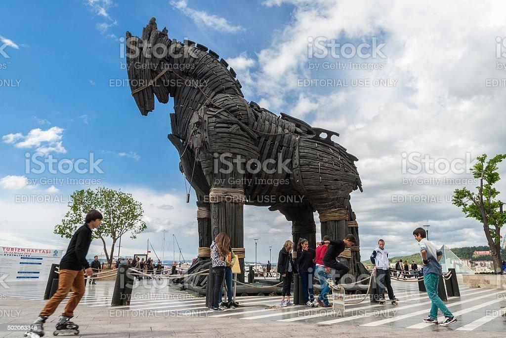 The Trojan Horse in Turkey stock photo