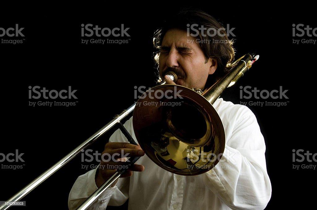 The Trombonist stock photo