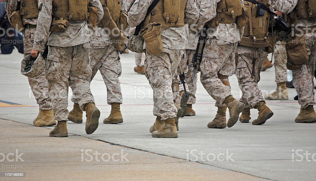 The Troops stock photo