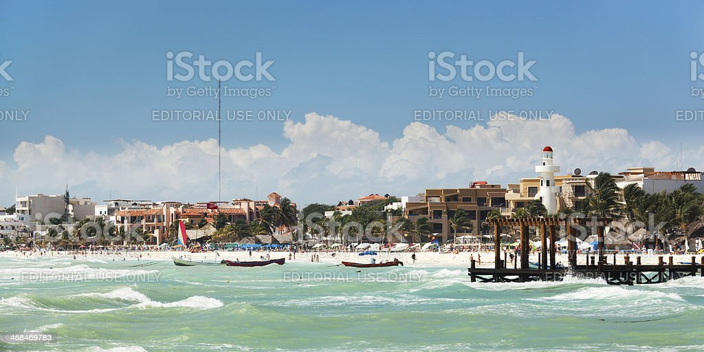 The Tropical Beach of Playa del Carmen in Mexico stock photo