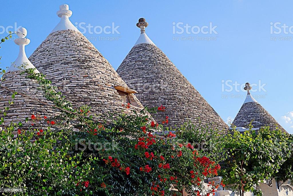 The Trulli of Alberobello in Italy stock photo