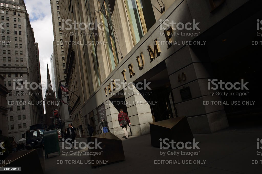 The Trump Building at 40 Wall Street, New York, NY stock photo