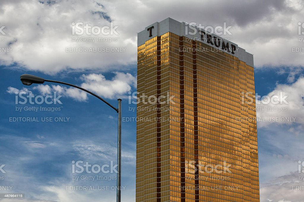 The Trump hotel Las Vegas. stock photo