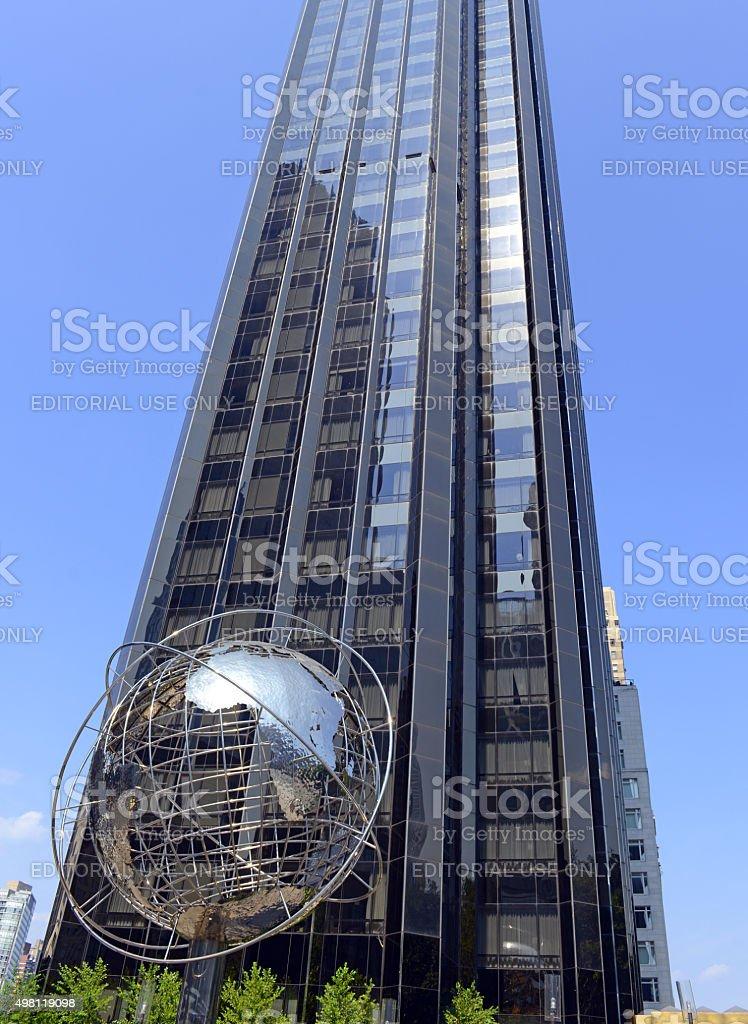 The Trump Tower at Columbus Circle , New York City stock photo