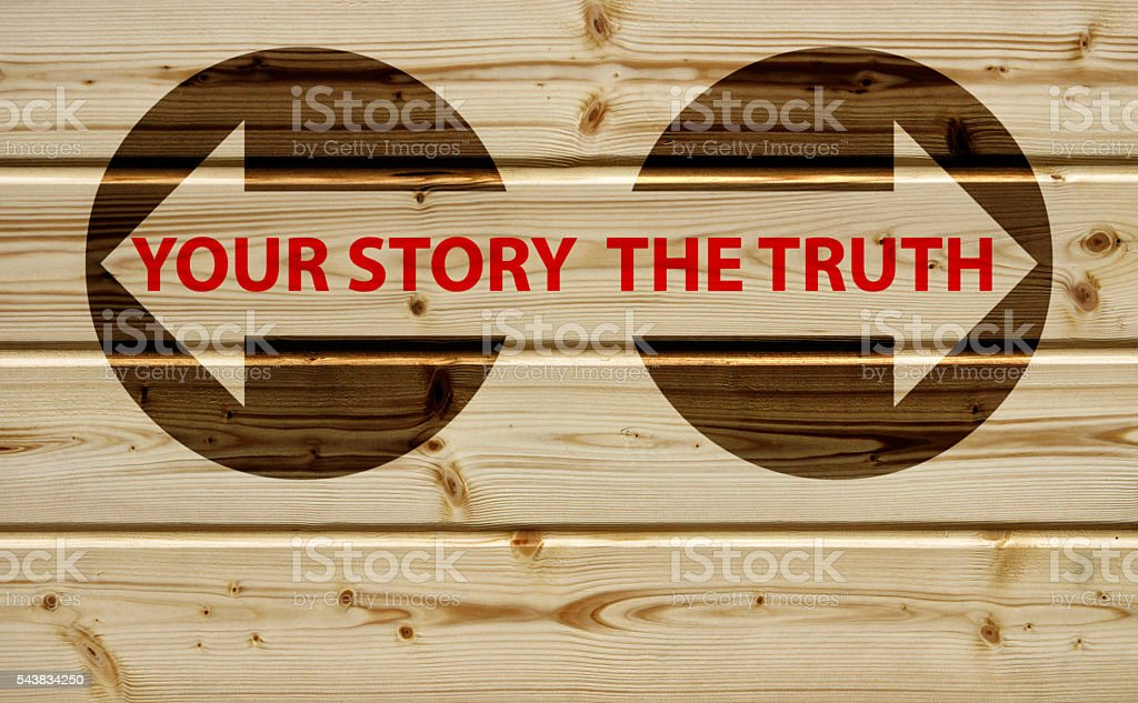the truth or your story stock photo