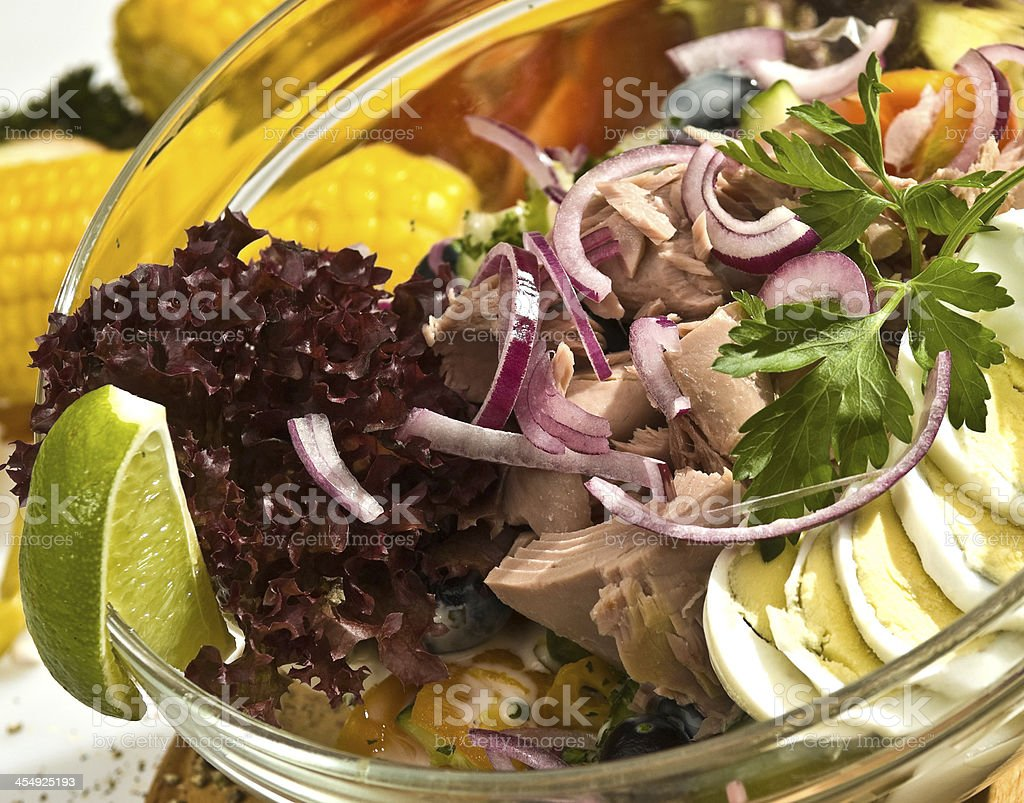 The tuna salad Mexican style stock photo