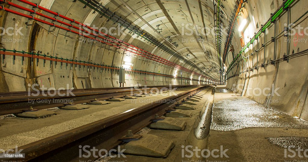 The tunnel stock photo
