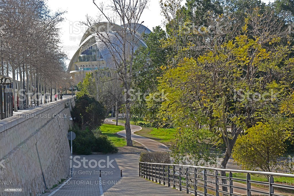 The Turia Gardens in Valencia. Spain stock photo