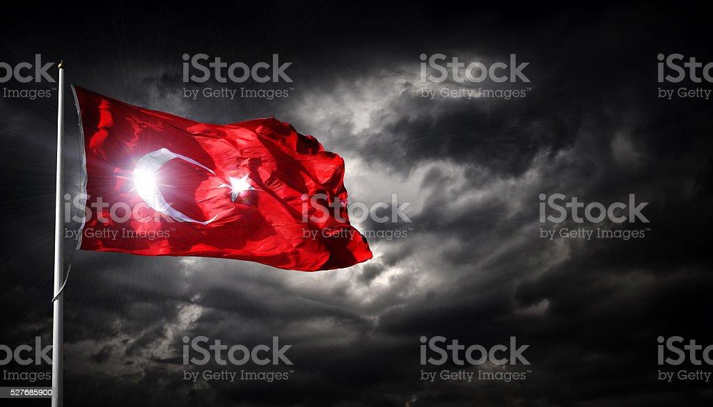 The Turkish flag stock photo