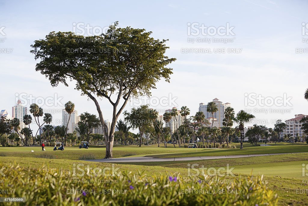 The Turnberry Golf Course in Aventura, Miami suburb, Florida stock photo