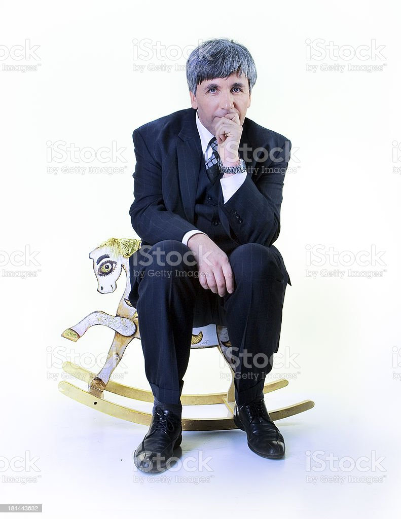 the turning gray man royalty-free stock photo