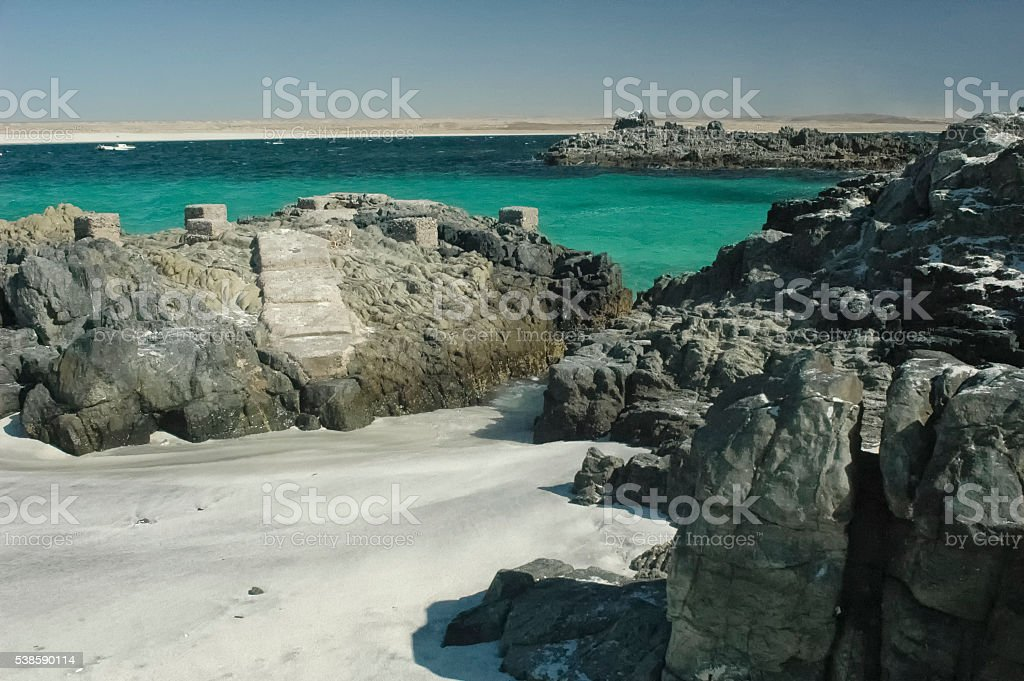 The turquoise waters of Bahia Inglesa stock photo