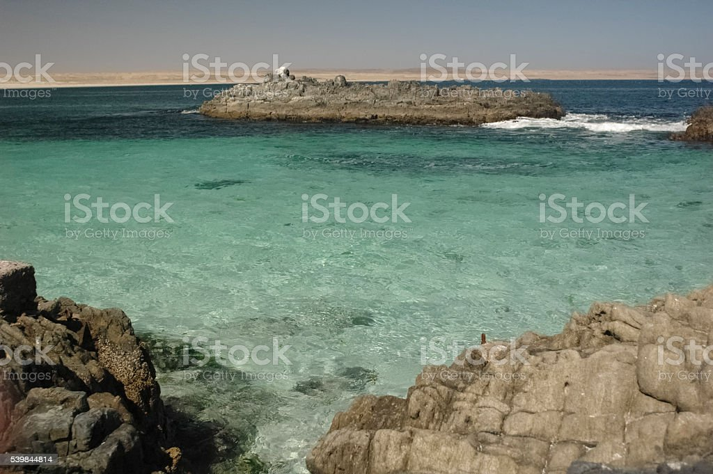 The turquoise waters of the English Bay stock photo