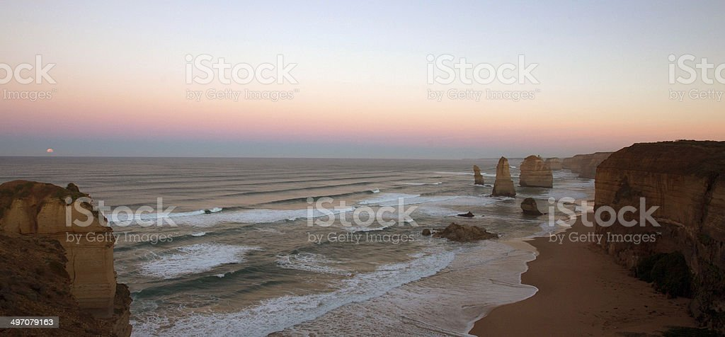 The Twelve Apostles at Moonlight royalty-free stock photo
