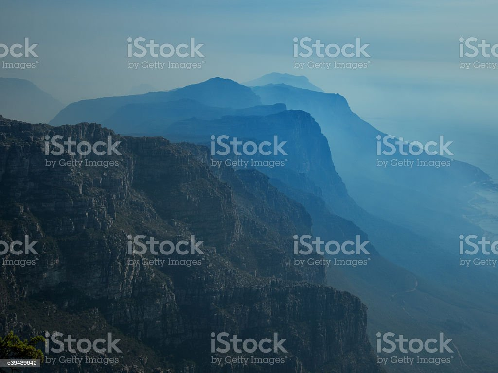 The Twelve Apostles From The Summit Of Table Mountain stock photo