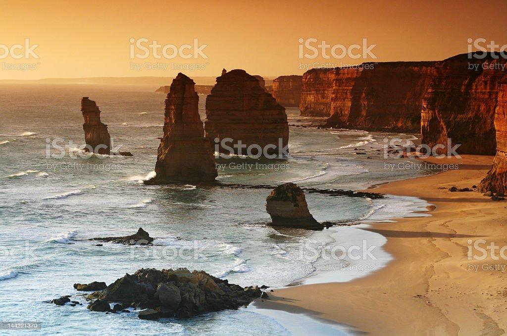 The Twelve Apostles, Great Ocean Road in Victoria, Australia royalty-free stock photo