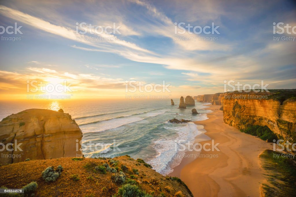 The Twelve Apostles, Great Ocean Road, Victoria Australia stock photo