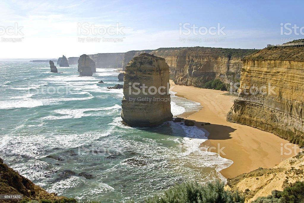 The Twelve Apostles limestone stacks in Victoria, Australia stock photo