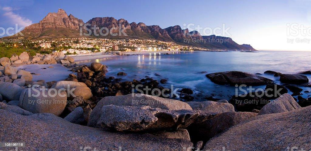 The Twelve Apostles Mountains in Cape Town royalty-free stock photo