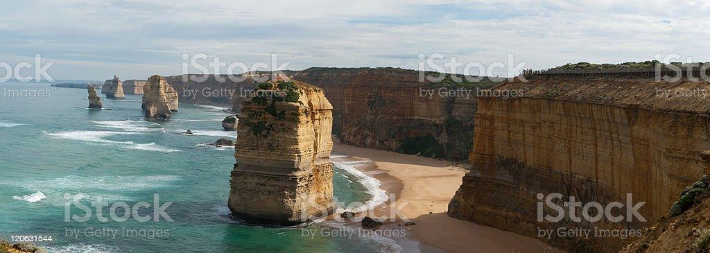 The Twelve Apostles Panoramic royalty-free stock photo