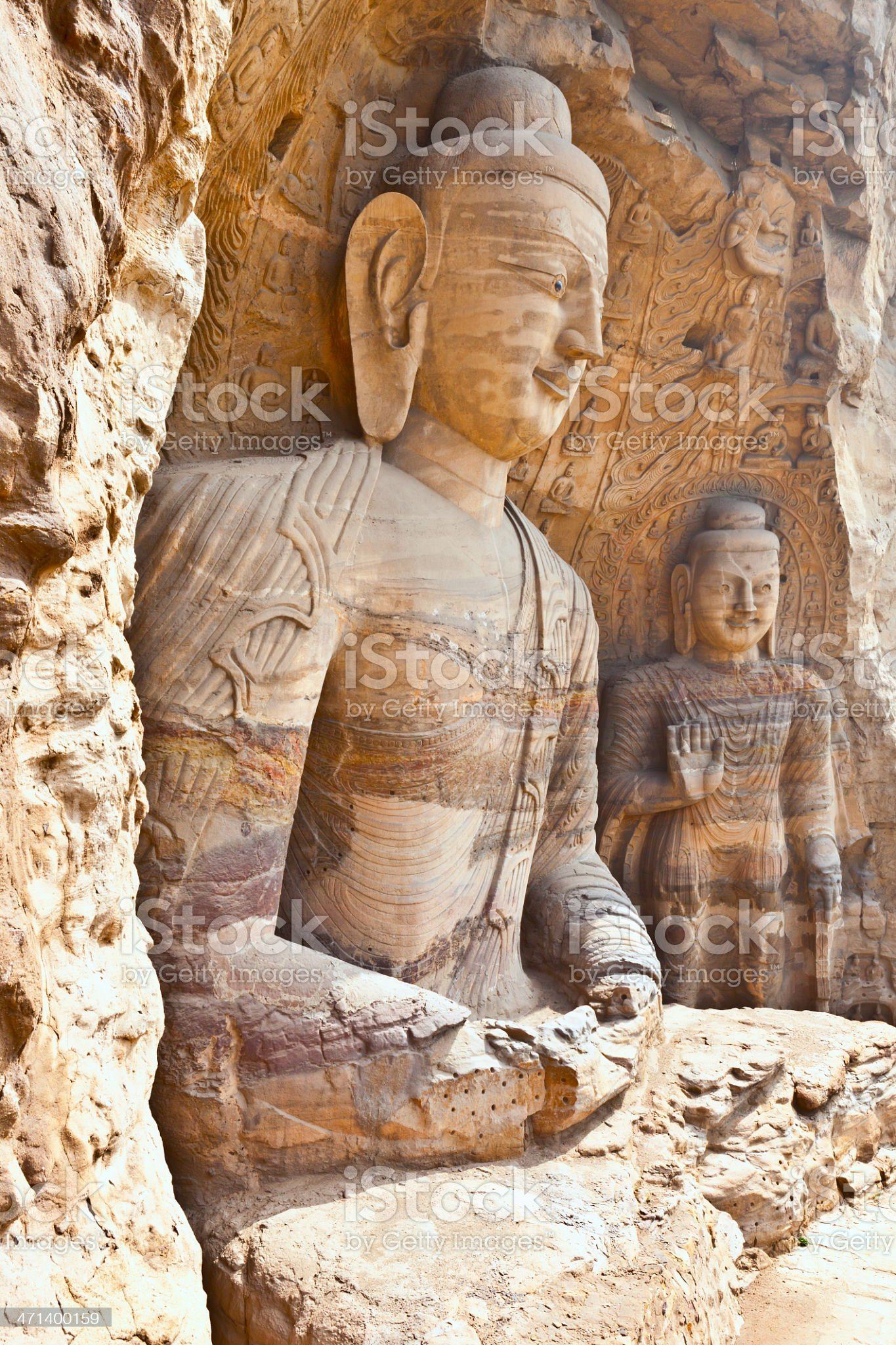The twentieth cavity of Yungang Grottoes royalty-free stock photo
