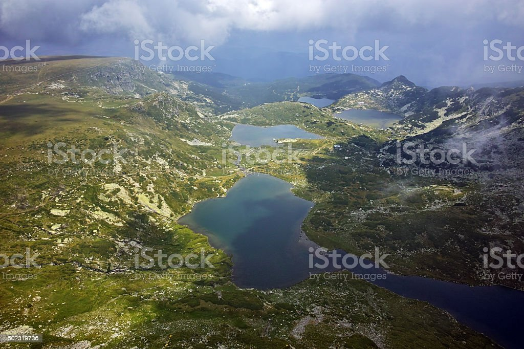 The Twin, The Trefoil, the Fish and The Lower Lakes stock photo