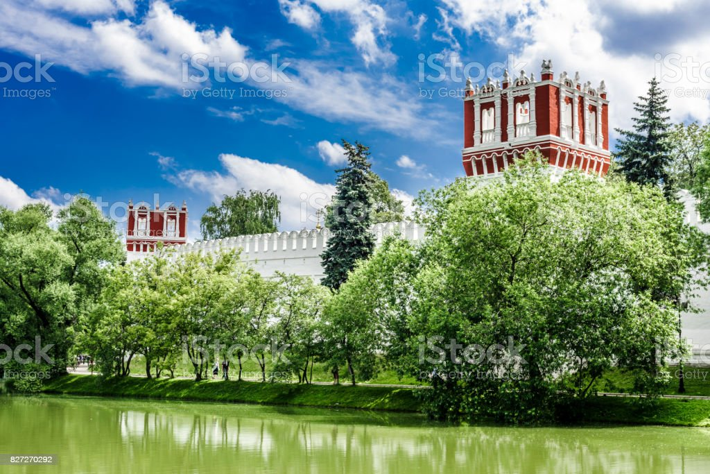 The two towers of the monastery stock photo
