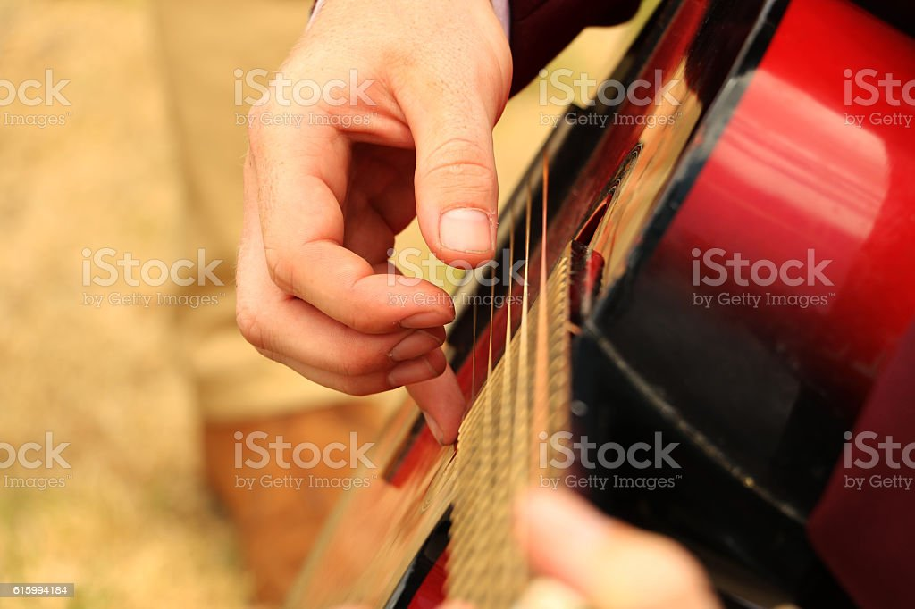 The Two-Song Guitarist stock photo