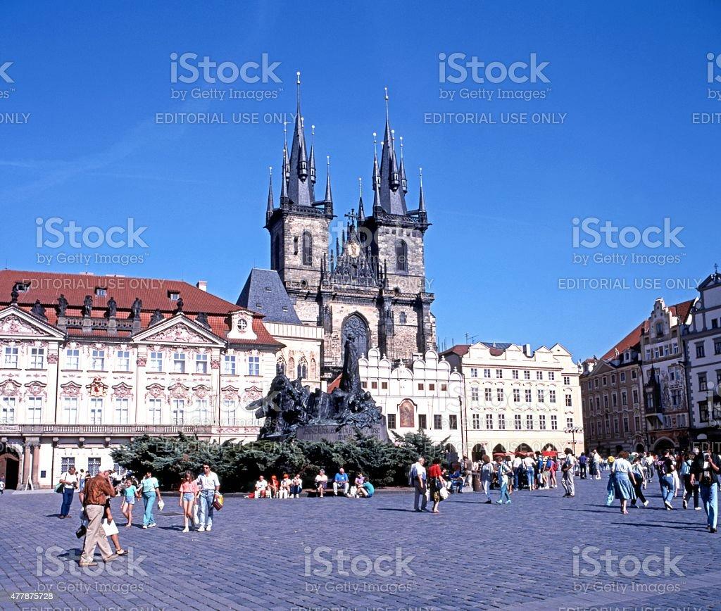 The Tyn Church, Prague. stock photo