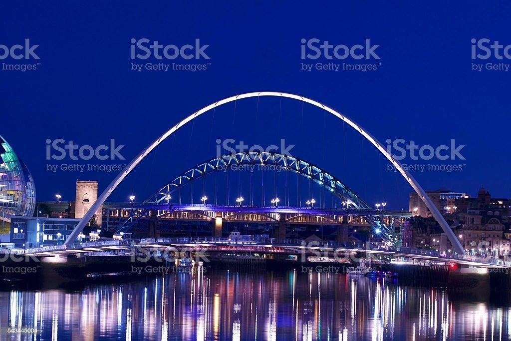 The Tyne at Night stock photo