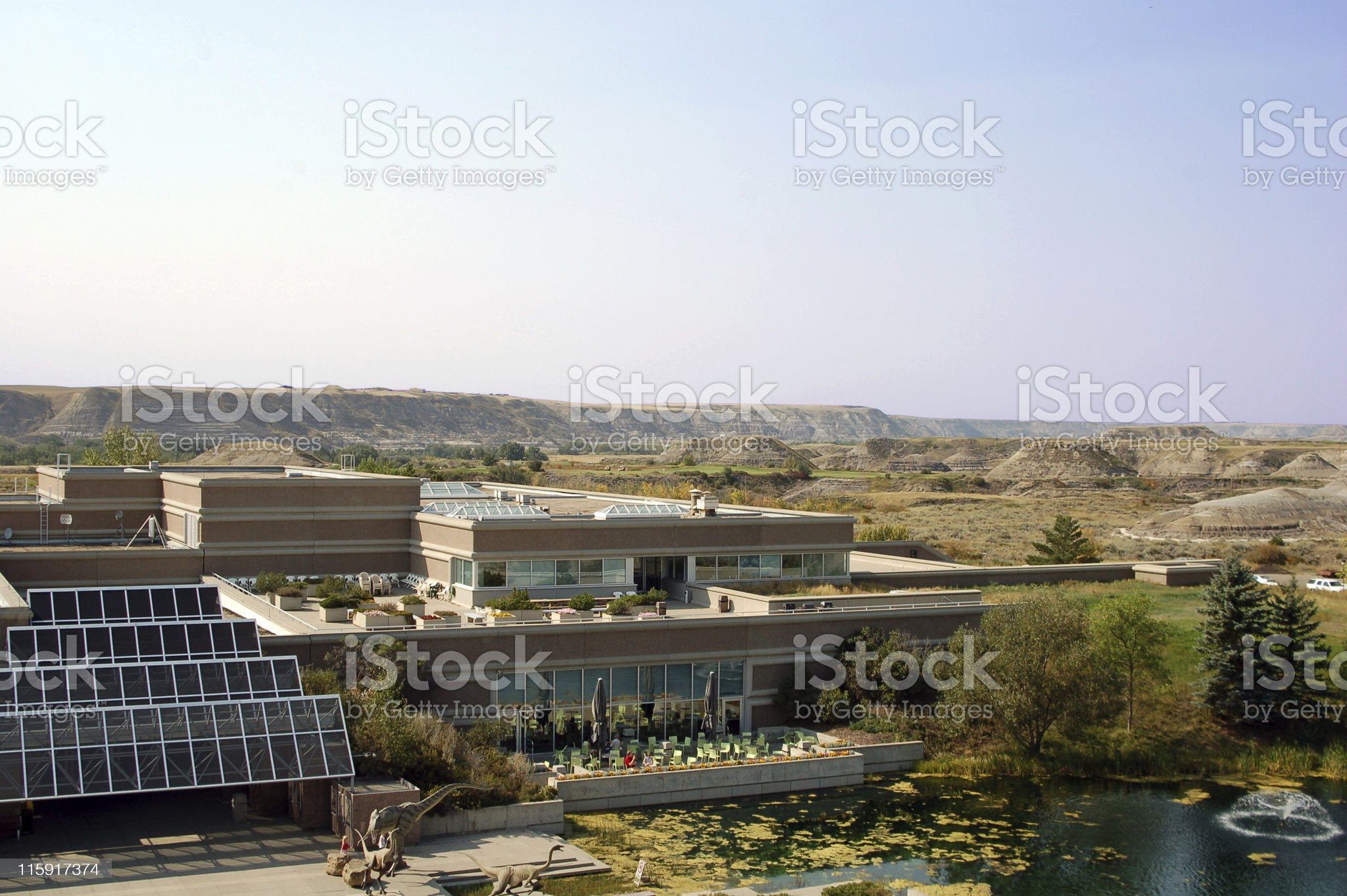 The Tyrrell Museum and Alberta Badlands royalty-free stock photo