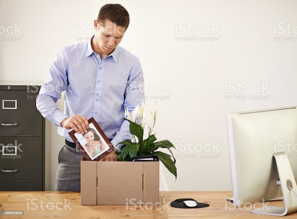 The ultimate bad day... stock photo