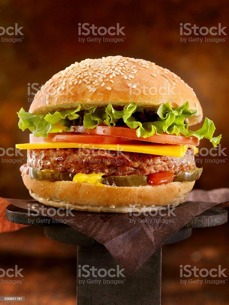 The Ultimate CheeseBurger stock photo