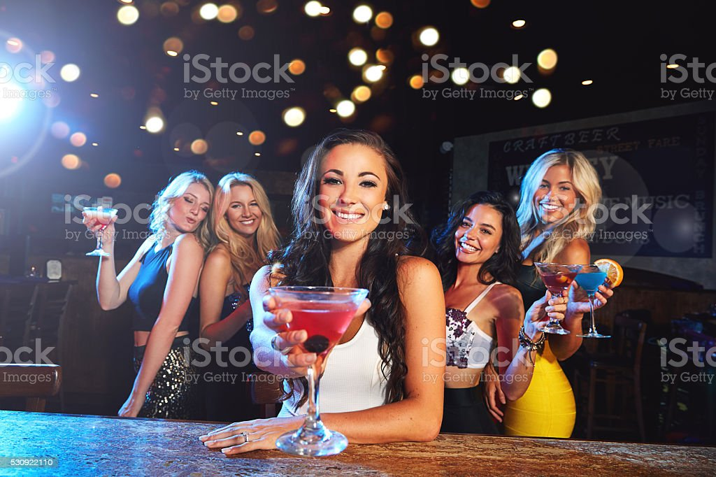 The ultimate girls night stock photo