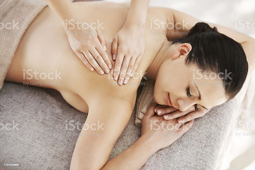 The ultimate in relaxation royalty-free stock photo