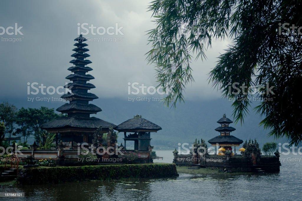 The Ulun Danau Temple, Bali, Indonesia stock photo