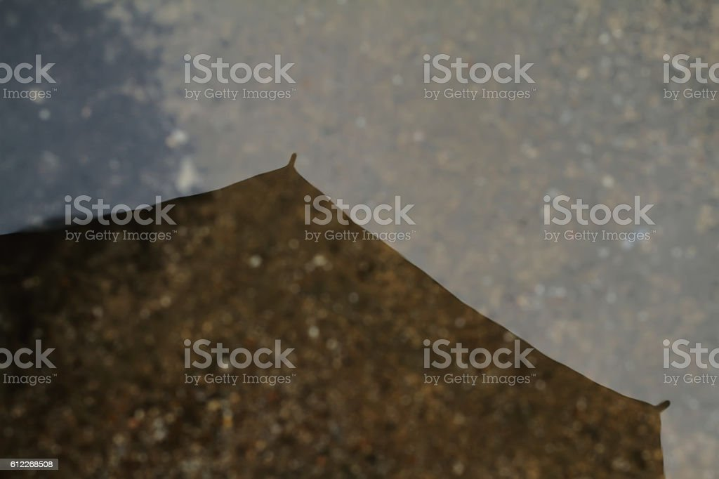 the umbrella, shadow a water in street stock photo